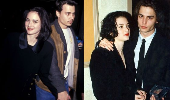 Winona Ryder and Johnny Depp met each other on a movie set