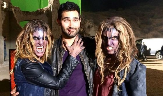 On the set of the Teen Wolf