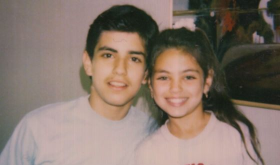Little Mila Kunis with her brother Michael
