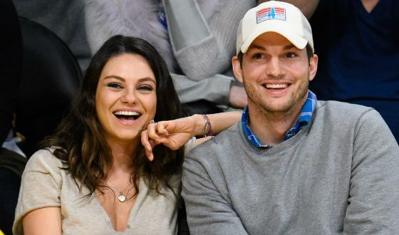 In the photo: Mila Kunis and Ashton Kutcher