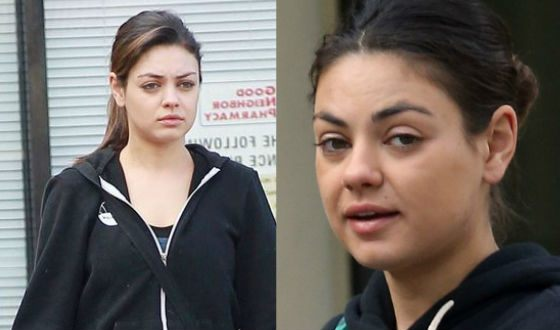 Mila Kunis without make-up