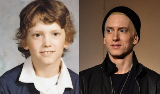 Eminem as a child and now
