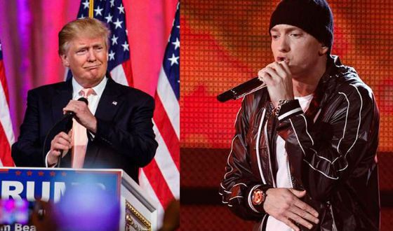 In 2017 Eminem severely criticized Trump