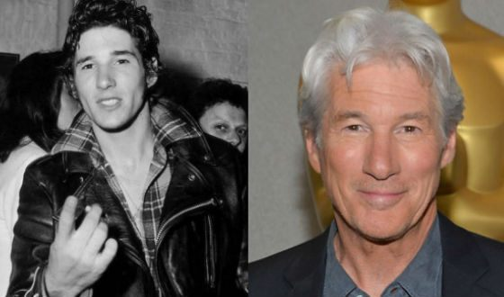 Richard Gere at a young age and now