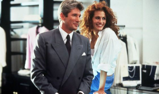Richard Gere and Julia Roberts on the set of the Pretty Woman