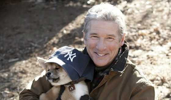 Richard Gere made friends with the puppy playing little Hachi