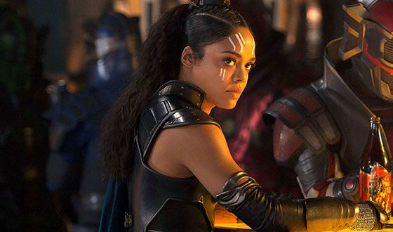 Tessa Thompson starred as Valkyrie in the movie Thor: Ragnarok