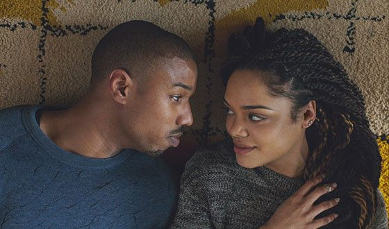 Michael B. Jordan and Tessa Thompson in the movie Creed