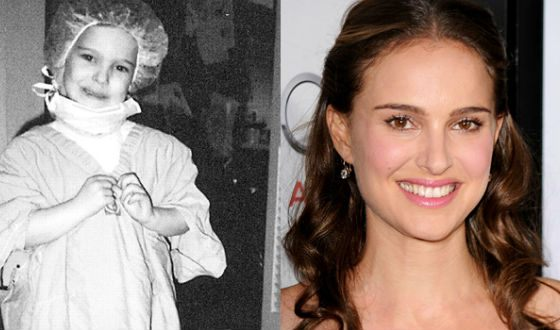 Natalie Portman in childhood and now