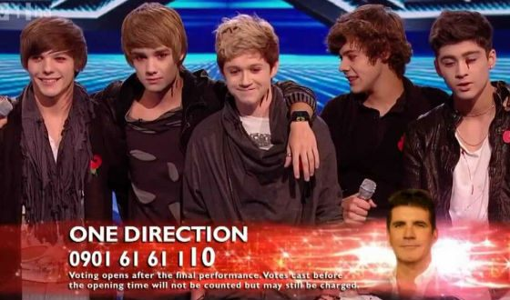 One Direction band was formed in 2010 at «The X Factor» singing competition