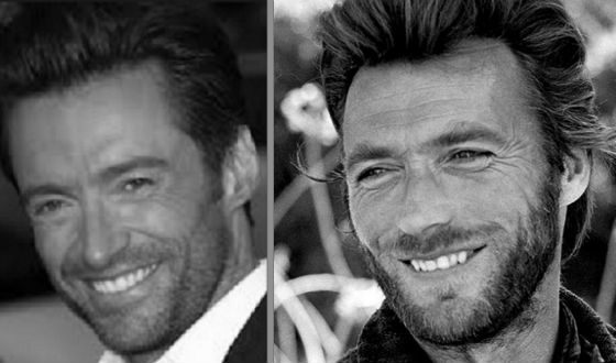 Hugh Jackman and young Clint Eastwood
