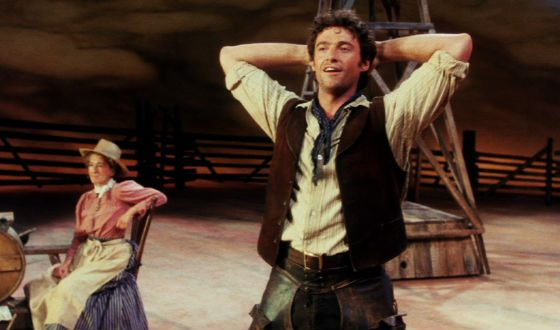 "Hugh Jackman in the ""Oklahoma!"" musical"