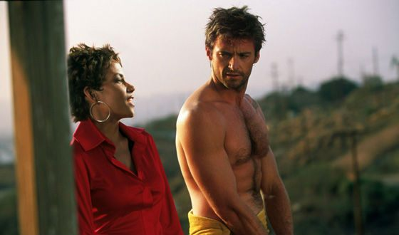 "Hugh Jackman and Halle Berry in ""Swordfish"""