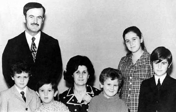Bashar al-Assad and his family