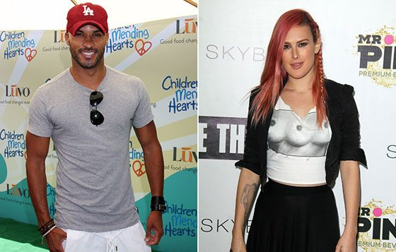 Ricky Whittle dated Rumer Willis