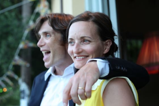 Cillian Murphy with his wife