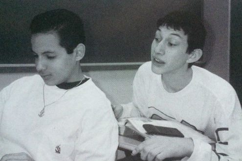 At school, Adam Driver (on the right) was an outcast