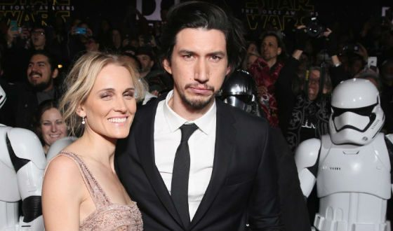 Adam Driver and his wife Joan at the premiere of Star Wars