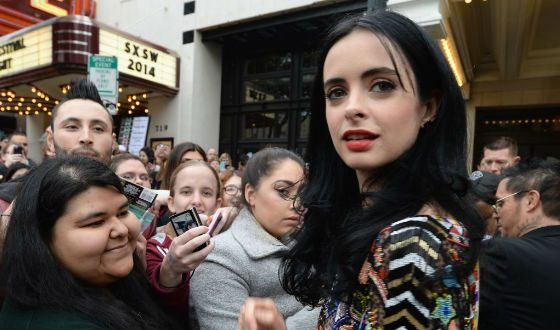 Krysten Ritter at the premiere of Veronica Mars (2014)