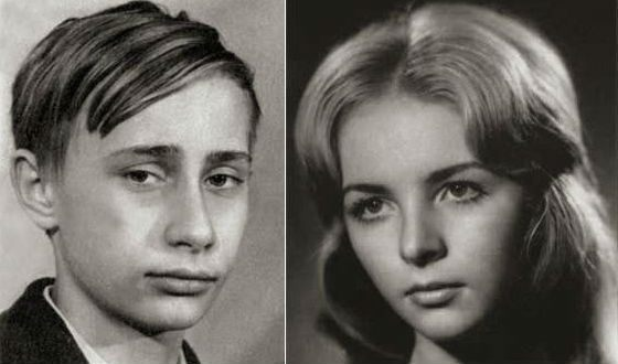 Vladimir and Lyudmila Putin in their youth