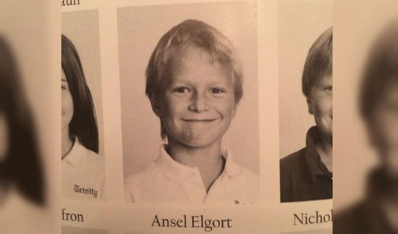 Ansel Elgort's childhood photo