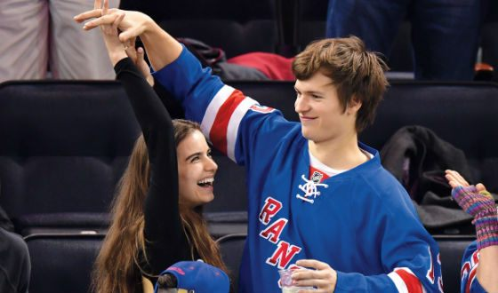 Ansel Elgort and his girlfriend Violetta Komyshan