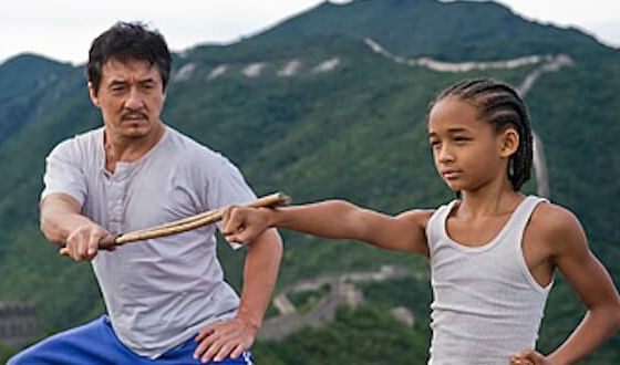 Jackie Chan as sensei of Will Smith's son