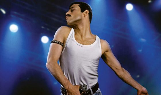 Rami Malek in the role of Freddie Mercury