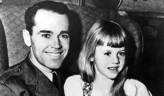 Jane Fonda with her father