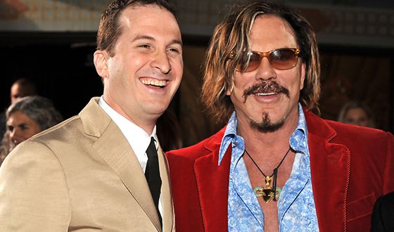 Darren Aronofsky and Mickey Rourke