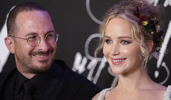 Darren Aronofsky and Jennifer Lawrence
