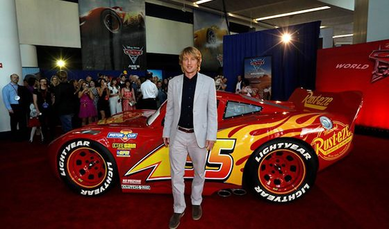 Owen Wilson at the premiere of the animated movie Cars 3