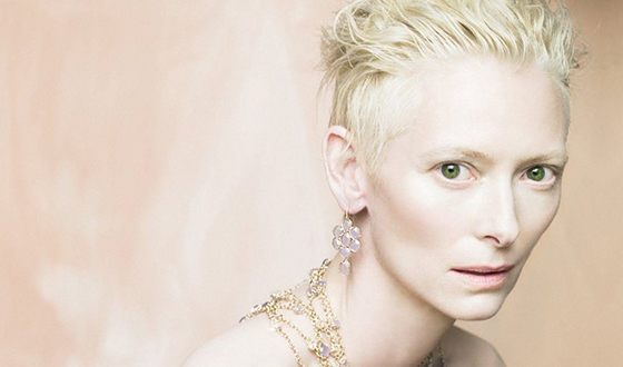 Tilda Swinton has an unusual appearance