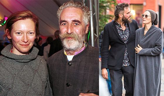 Tilda Swinton, John Byrne and Sandro Kopp (in the photo from the right)