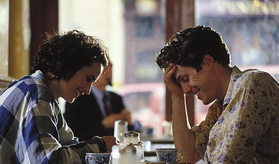 Hugh Grant and Andie MacDowell in the Four weddings and a funeral