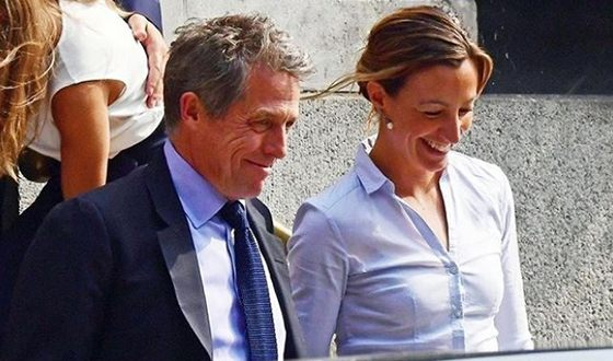 Hugh Grant and Anna Eberstein got married in May 2018