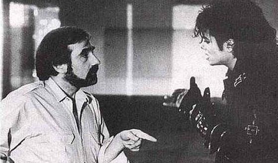 Martin Scorsese and Michael Jackson on the Set of Bad