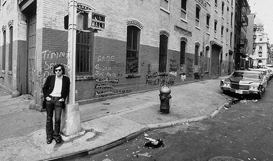 Martin Scorsese on the Set of Mean Streets