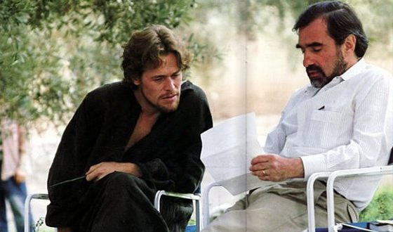 Martin Scorsese and Willem Dafoe on the Set of The Last Temptation of Christ