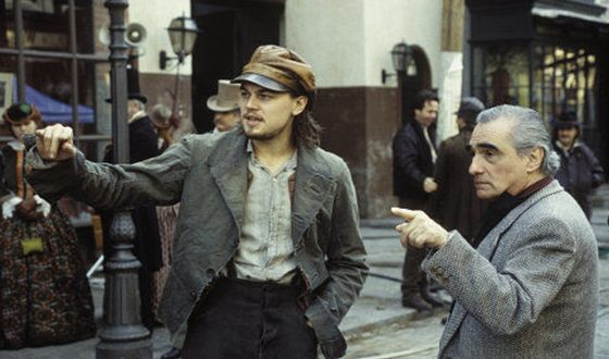 Martin Scorsese and Leonardo DiCaprio on the Set of Gangs of New York