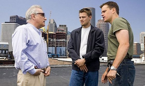 Martin Scorsese, Leonardo DiCaprio, and Matt Damon