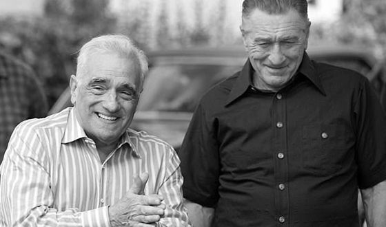 De Niro and Scorsese on the Set of The Irishman