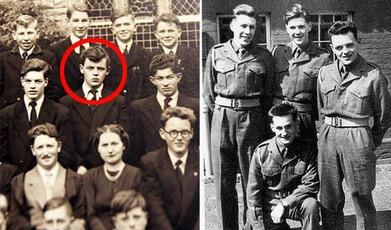 Anthony Hopkins at the Boys' School and in the army (from the right)