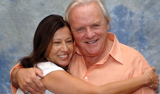 Anthony Hopkins with his wife Stella Arroyave