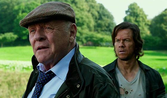 Anthony Hopkins and Mark Wahlberg in the Transformers. The Last Knight