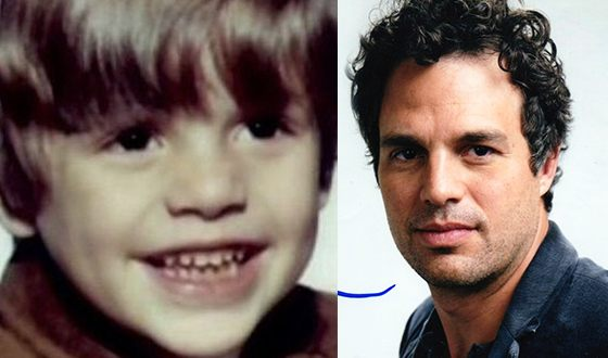 Mark Ruffalo then and now