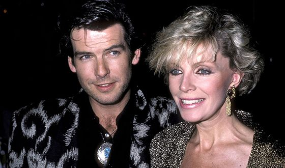 Pierce Brosnan with Cassandra Harris