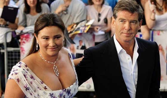 Pierce Brosnan with Keely Shaye Smith