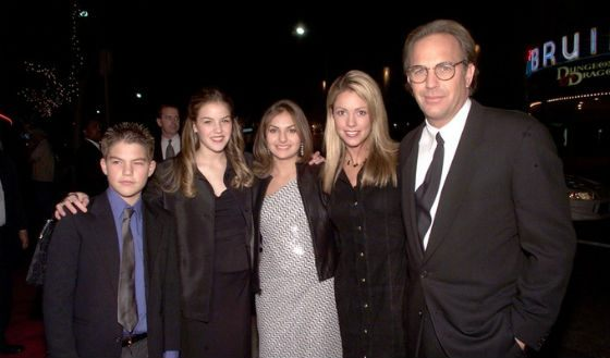 Kevin Costner and his family