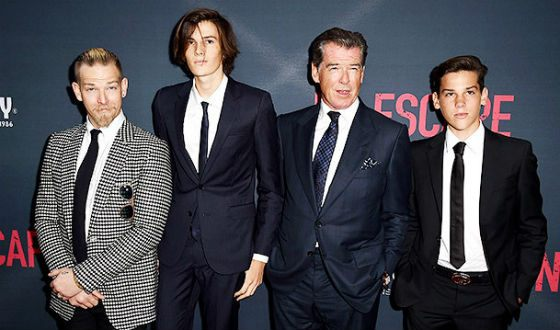 Pierce Brosnan and his sons
